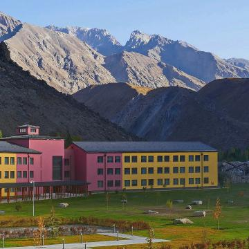 Student residences at UCA's new campus at Khorog, Tajikstan, in Central Asia's rugged Pamir Mountains