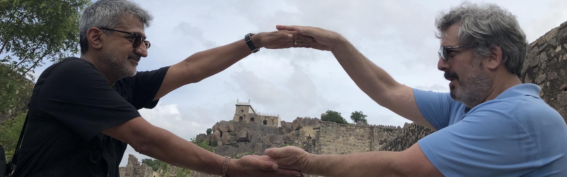 Doctors Vikk Dua and Dan Goldowitz in India